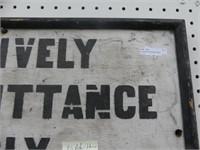 NO ADMITTANCE WOOD SELF FRAMED SIGN