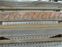 FLEET WING WOODEN & STEEL SLEIGH