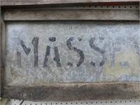 MASSEY HARRIS WOODEN & TIN WALL ART