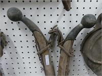 ANTIQUE BRASS TIP HORSE HAMES