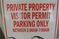 Visitor Permit Parking Only Sign