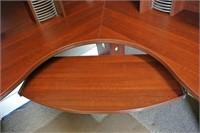 Cherry Finish L Shape Desk