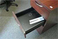 Cherry Finish Desk Side Cart