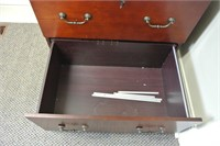 Cherry Finish 2 Drawer Wooden File Cabinet