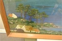 Mixed Media Bay Inlet Scene Artwork
