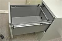 2 Drawer Letter Size Metal Filing Cabinet