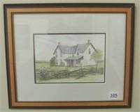 Framed Decorative Print by T. McDonald