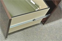 Lacquered Finish Wooden File Cabinet