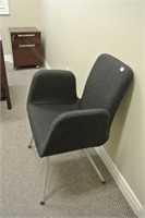 Upholstered 60's Style Waiting Room Chair