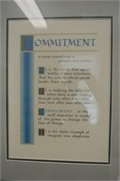 Framed Commitment Inspirational Poem