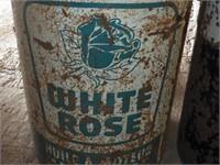 White Rose and John Deere Tin Pails