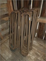 (16) old metal stanchions