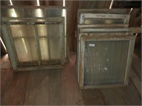 (12) Various Size Barn Windows