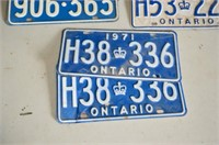 (6) License Plates from 1960's & 70's