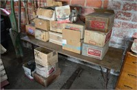 Large Lot of Crown Sealers and Folding Table