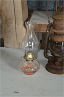 (2) Beacon Oil Lamps and Glass Oil Lamp