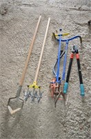 Grp, of Garden Tools - Claw, Hoe, Loppers, etc.