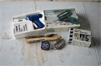 Box of Soldering Gun, Assorted Tools