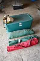 Large Tote with Folding Chairs and Tent