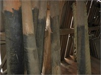 (6) 8' Heavy Cedar Fence Posts