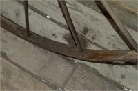 "Antique Steel Wheel, 53"""