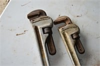 (2) Aluminum Pipe Wrenches
