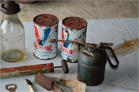 Grp, of Oil Products, Cans, Bottle, etc.