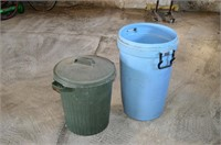 (2) Plastic Garbage Cans