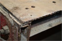 Heavy Work Table with Steel Plate Top