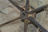 "Antique Steel Wheel, 32"""