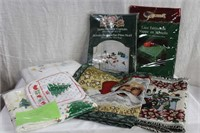 Christmas hand towels, shower curtain, dish towels