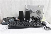 Computer keyboard, cooling device, Cisco router,