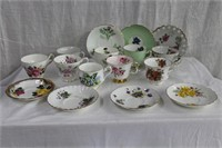 3 China cups and saucers, assortment of odd