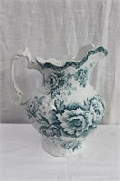 Colonial Pottery England water pitcher (cracked