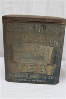 Advertising tins Ocean Blend Tea Co and Magic
