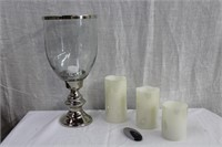Hurricane candle lamp and 3 battery operated