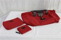Hand bag, change purse and make-up bag