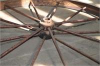 "Antique Steel Wheel, 40"""