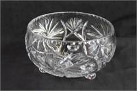 """Footed pinwheel crystal 7"""" bowl"""