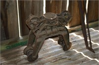 Antique Hay Fork and Trolley