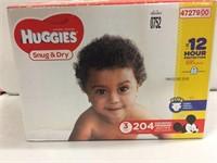 HUGGIES SNUG & DRY DIAPERS SIZE 3