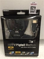 HDTV PIGTAIL SWITCH 3 IN 1