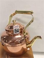 BRASS TEA KETTLE