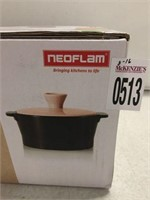 NEOFLAM STOVETOP CERAMIC COVERED CASSEROLE 1.4 QT