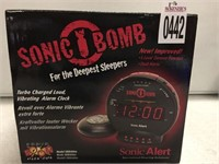 SONIC BOMB TURBO LOUD ALARM CLOCK
