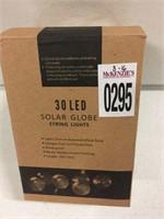 30 LED SOLAR GLOBE STRING LIGHTS