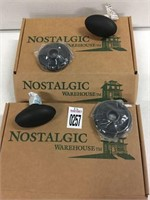SET OF 2 NOSTALGIC OIL RUBBED BRONZE KNOB