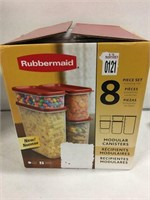 RUBBERMAID 8PCS SET MODULAR CANISTERS