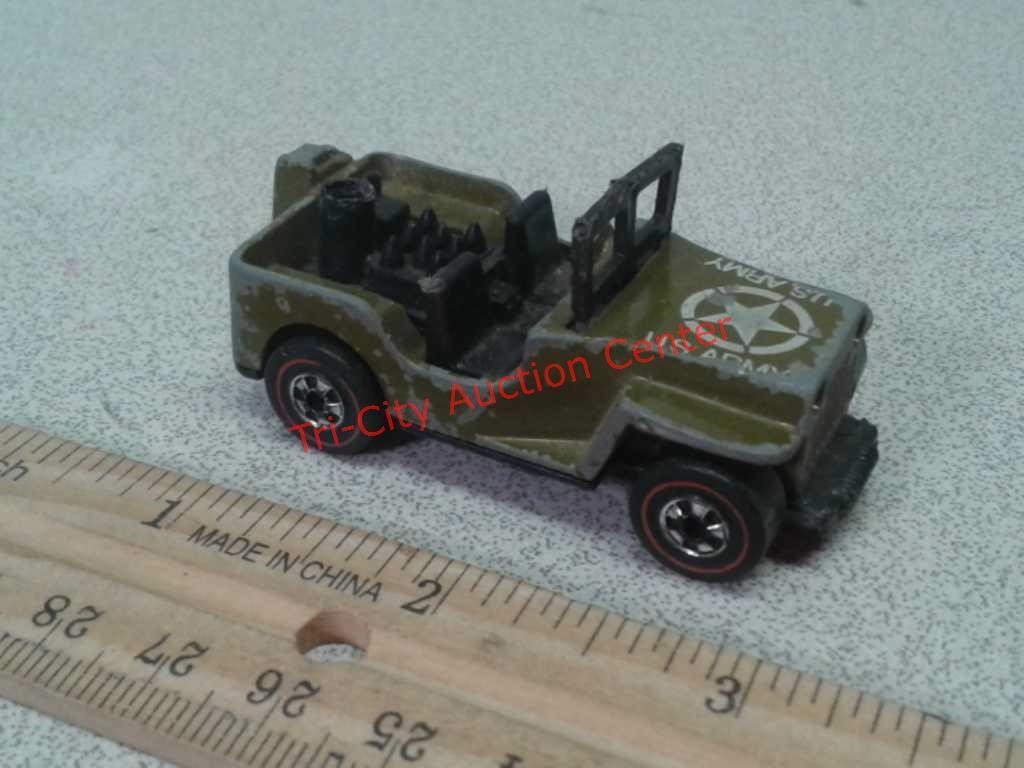 1970 Redline Hot Wheels military US Army jeep | Tri-City Auction Center