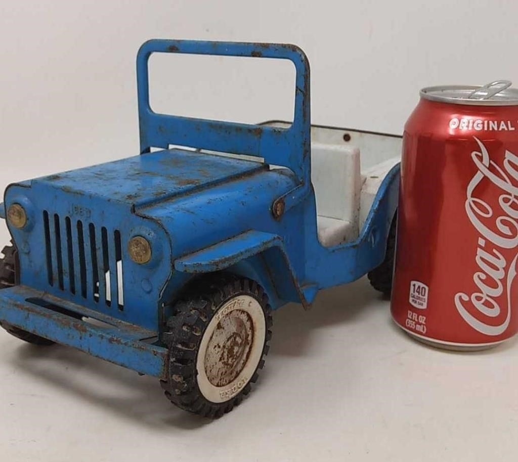 Vintage Tonka Jeep  Fold down windshield  | Northern